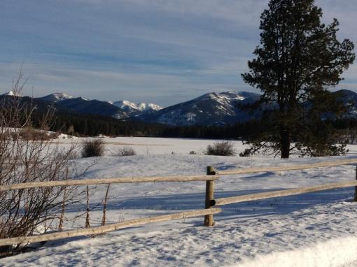 Winter settles in on Lake Upsawta in Montana