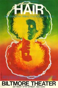 "The original Broadway play poster for ""Hair"""