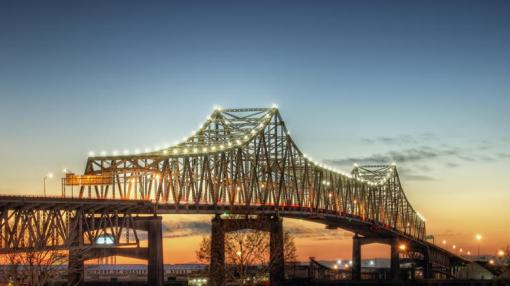 Mississippi River Bridge at Baton Rouge, La.
